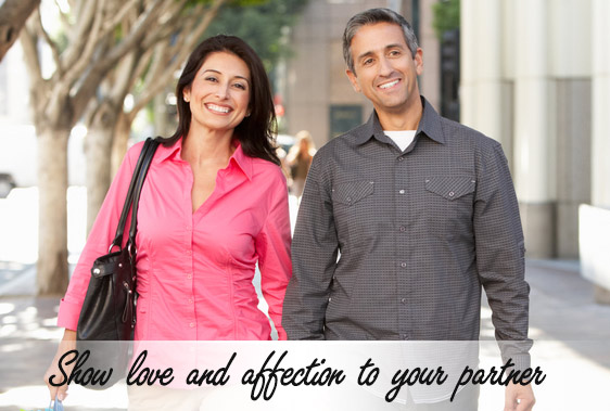 Show love and affection to your partner